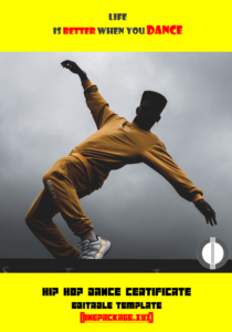 Hip Hop Certificate Template Free In 2020 | Certificate regarding Hip Hop Dance Certificate Templates