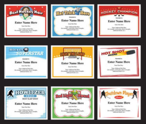 Hockey Certificates Templates | Awards For Hockey Teams intended for Best Hockey Certificate Templates