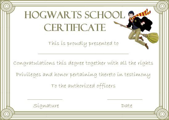 Hogwarts Certificate Template: 10 Templates To Motivate And within Travel Certificates 10 Template Designs 2019 Free