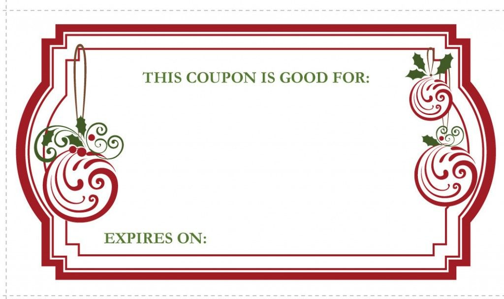 Holiday Coupon Template | Free Coupon Template, Coupon inside Valentine Gift Certificates Free 7 Designs