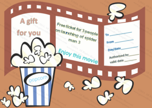 Holiday Gift Certificate Template (Movie, #5530)   Holiday pertaining to Quality Movie Gift Certificate Template
