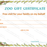 Holiday Gift Certificate Template (Wild Zoo, #5535) | Gift For Unique Zoo Gift Certificate Templates Free Download