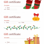 Holiday Gift Certificates (Christmas Spirit Design, 3 Per Page) Inside Free Christmas Gift Certificate Templates