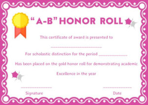 Honor Roll Certificates: 12 Templates To Reward Teachers And inside Honor Roll Certificate Template