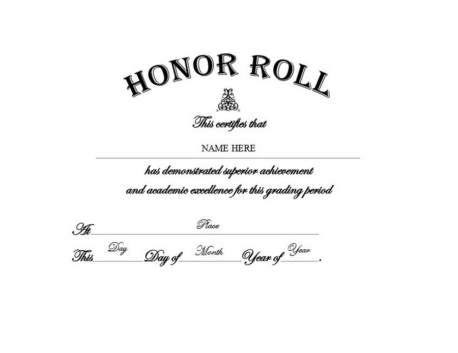 Honor Roll Free Templates Clip Art & Wording | Geographics inside Certificate Of Honor Roll Free Templates