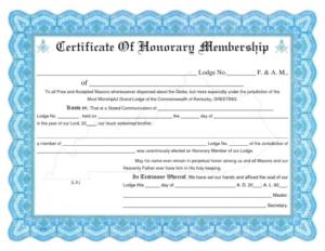 Honorary Membership Certificate Template Word Intended For intended for Membership Certificate Template Free 20 New Designs
