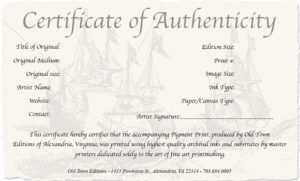 How To Create A Certificate Of Authenticity For Your Photography regarding Fresh Photography Certificate Of Authenticity Template