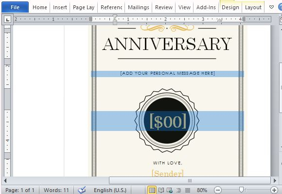 How To Create A Printable Anniversary Gift Certificate for Quality Anniversary Gift Certificate