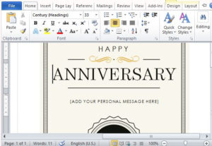 How To Create A Printable Anniversary Gift Certificate inside Quality Anniversary Gift Certificate