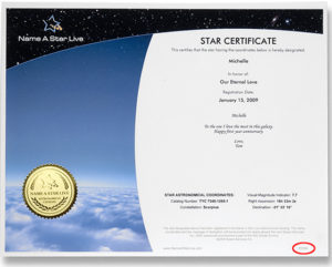 How To Download Your Launch Certificate – Name A Star Live with regard to Unique Star Naming Certificate Template