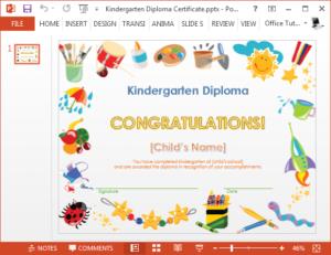 How To Make A Printable Kindergarten Diploma Certificate regarding Best Children'S Certificate Template