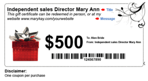How To Make Money With Mary Kay® Gift Certificates And intended for New Mary Kay Gift Certificate Template