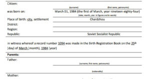 How To Translate Russian Birth Certificate regarding Birth Certificate Translation Template