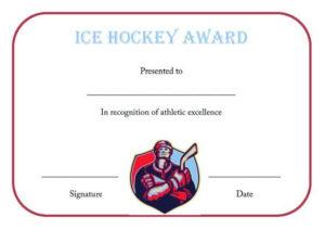 Ice Hockey Certificate Template | Certificate Templates, Ice pertaining to Hockey Certificate Templates