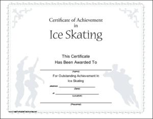 Ice Skating Printable Certificate | Printable Certificates intended for Fresh Ice Skating Certificates