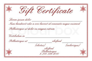Illustration Of Gift Certificate On  | Stock Vector within Best Magazine Subscription Gift Certificate Template