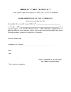 Image Result For Medical Fitness Certificate | Doctors Note regarding Fresh Physical Fitness Certificate Templates