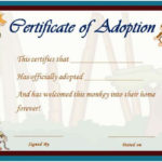 Image Result For Stuffed Animal Adoption Certificate For New Stuffed Animal Adoption Certificate Template Free