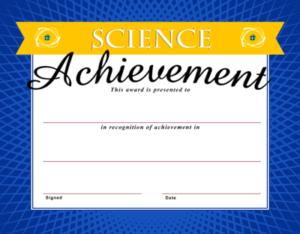 Image: Science Achievement Certificate | Christart with regard to Science Achievement Certificate Templates