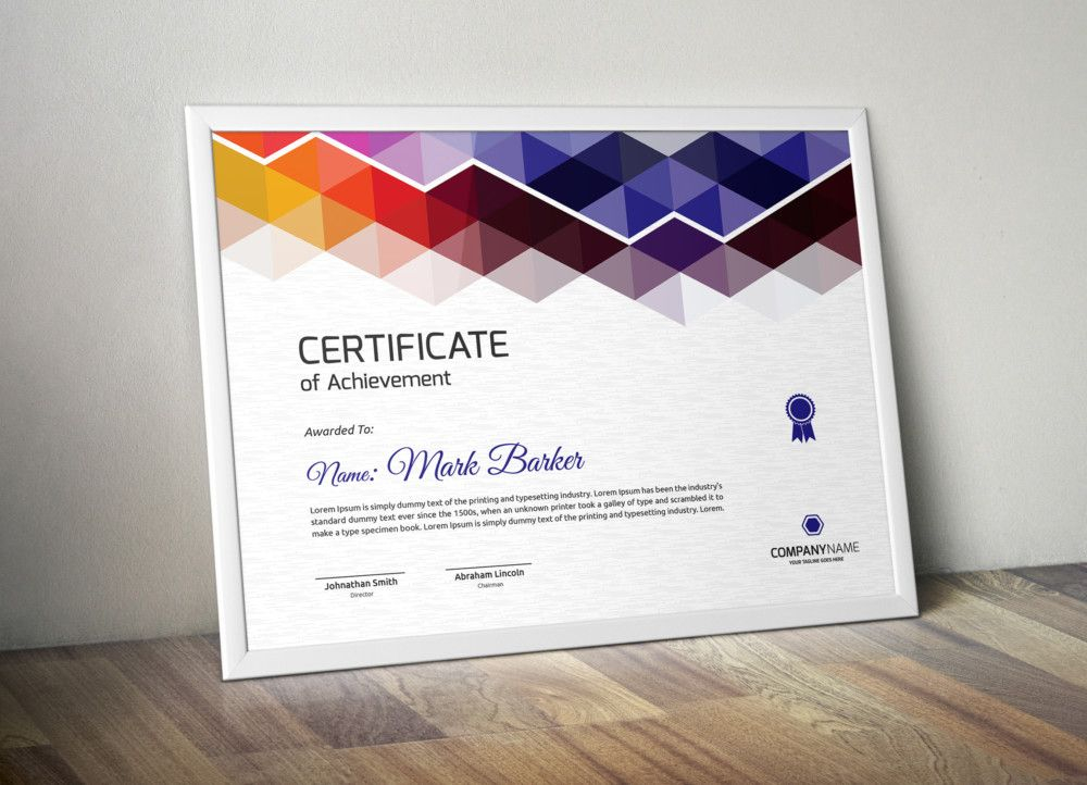 Indesign Certificate Template (7) - Templates Example inside Indesign Certificate Template