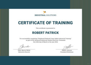 Industrial-Certificate-Of-Training-Template-Doc-Pdf with regard to Training Certificate Template Word Format