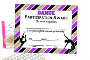 Instant Download Dance Team Certificate Dance Award | Etsy throughout Quality Dance Award Certificate Template