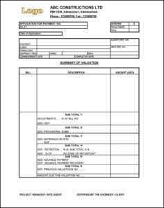 Interim Payment Certificate Sample | Certificate Templates with Unique Certificate Of Payment Template