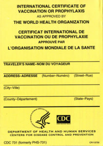 International Certificate Of Vaccination Or Prophylaxis As Approvedthe  World Health Organization (Package Of 100) intended for Certificate Of Vaccination Template