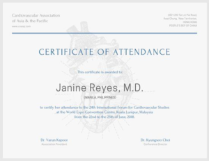 International Conference Certificate Templates (10 pertaining to Conference Certificate Of Attendance Template