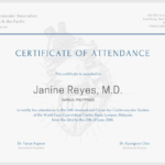 International Conference Certificate Templates (10 Regarding Certificate Of Attendance Conference Template