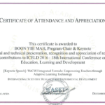 International Conference Certificate Templates (9 Throughout Conference Participation Certificate Template