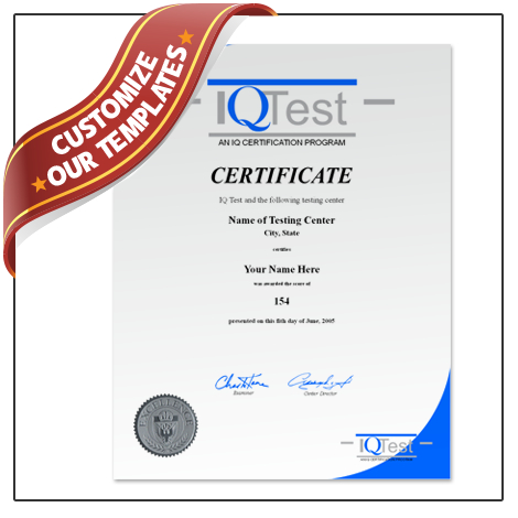 Iq Certificate Template (1) - Templates Example   Templates With Iq Certificate Template
