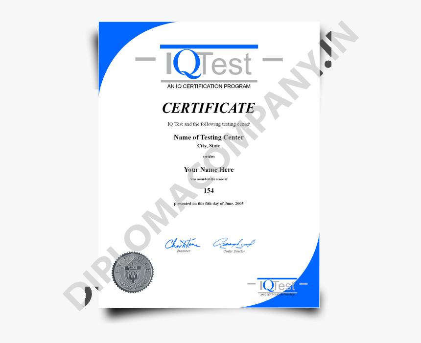 Iq Certificate Template Fake Mensa Iq Diplomacompany - Iso in Quality Iq Certificate Template