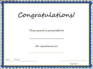 January Certificates For 2017 | Certificate Templates with regard to Fresh Congratulations Certificate Templates