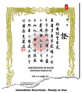 Japanese Martial Arts Certificate Templates with New Karate Certificate Template
