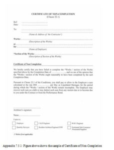 Jct Practical Completion Certificate Template | Certificate inside Quality Practical Completion Certificate Template Jct