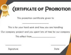 Job Promotion Certificate Template | Certificate Templates for Unique Job Promotion Certificate Template Free