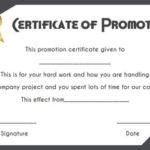 Job Promotion Certificate Template | Certificate Templates within Promotion Certificate Template