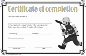 Junior Firefighter Certificate Template Free | Certificate with Unique Firefighter Certificate Template