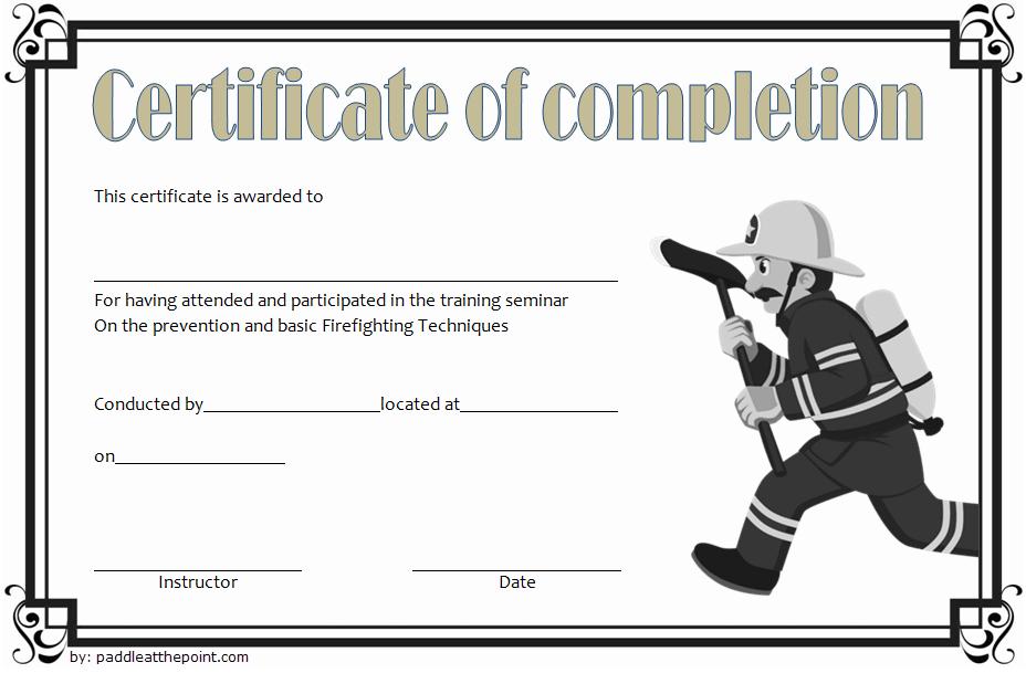 Junior Firefighter Certificate Template Free | Certificate with Unique Firefighter Certificate Template