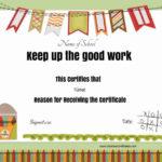 Keep Up The Good Work | Teacher Awards, School Certificates Inside Great Work Certificate Template