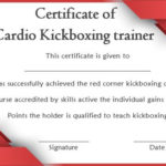 Kickboxing Certificate Templates For Instructors & Students Intended For Unique Boxing Certificate Template