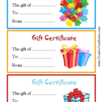 Kids Gift Certificate Template (3) – Templates Example Throughout Quality Kids Gift Certificate Template