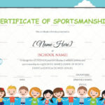 Kids Sportsmanship Certificate Template Within Children'S Within Sportsmanship Certificate Template