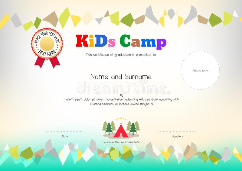Kids Summer Camp Diploma Or Certificate Template Award within Summer Camp Certificate Template