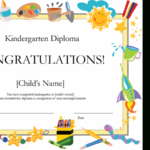 Kindergarten Diploma Certificate for Quality 10 Kindergarten Diploma Certificate Templates Free