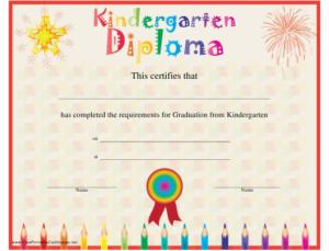 Kindergarten Diploma Certificate Template Download Printable in Kindergarten Graduation Certificate Printable