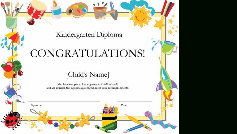 Kindergarten Diploma Certificate With Kindergarten Completion Certificate Templates