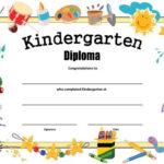 Kindergarten Diploma - Free Printable | Kindergarten for New Printable Kindergarten Diploma Certificate
