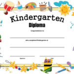 Kindergarten Diploma - Free Printable   Kindergarten intended for New Kindergarten Graduation Certificate Printable